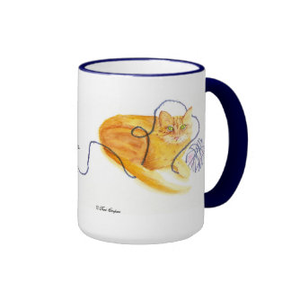 Mr Cheddar Cat Cup For Knitters Mug