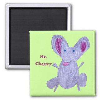 Mr.Cheesy 2 Inch Square Magnet