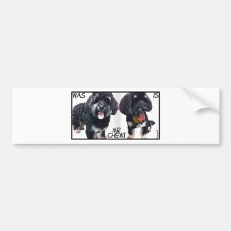 mr_chewi car bumper sticker
