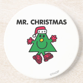 Mr. Christmas | Festive Hat & Gloves Drink Coaster
