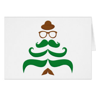 Mr Christmas Mustache Tree Card