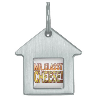 Mr Classy Blue Cheese Pet Name Tag