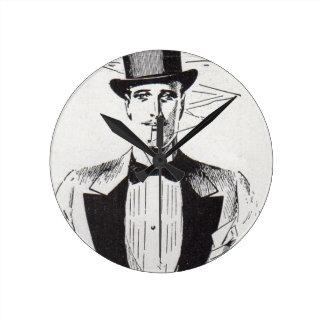 Mr. Classy, sharp dressed man Round Clock