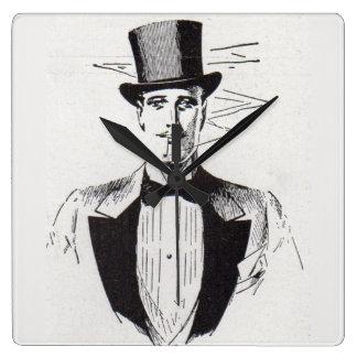 Mr. Classy, sharp dressed man Square Wall Clock
