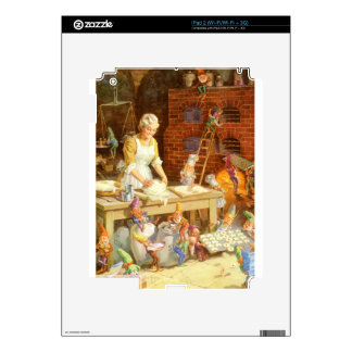 Mr. Claus and Santa's Elves Bake Cookies iPad 2 Decal