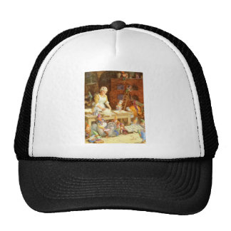 Mr. Claus and Santa's Elves Bake Cookies Trucker Hat