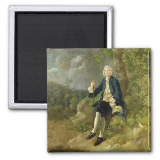 Mr Clayton Jones, c.1744-45 (oil on canvas) 2 Inch Square Magnet