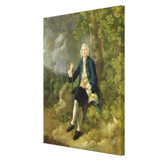 Mr Clayton Jones, c.1744-45 (oil on canvas) Canvas Print