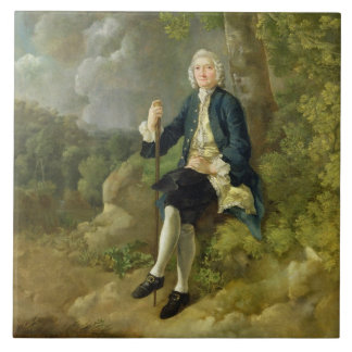 Mr Clayton Jones, c.1744-45 (oil on canvas) Ceramic Tile