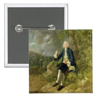 Mr Clayton Jones, c.1744-45 (oil on canvas) Pinback Button
