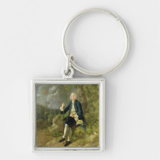 Mr Clayton Jones, c.1744-45 (oil on canvas) Silver-Colored Square Keychain