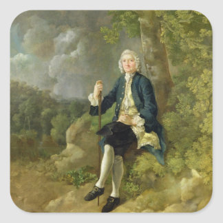 Mr Clayton Jones, c.1744-45 (oil on canvas) Square Sticker