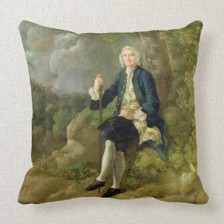 Mr Clayton Jones, c.1744-45 (oil on canvas) Throw Pillow