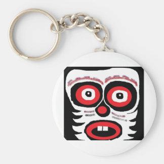 mr clown face key chain