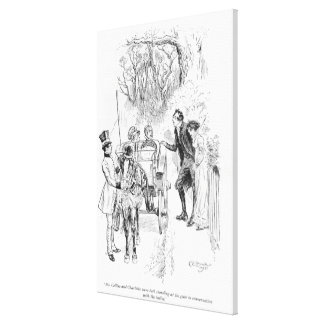 Mr. Collins and Charlotte were both standing Canvas Print