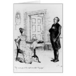 Mr Collins and Elizabeth Greeting Card