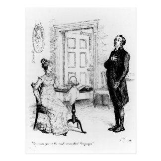 Mr Collins and Elizabeth Postcard