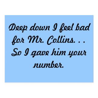 Mr. Collins Postcard
