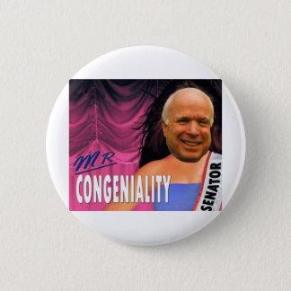 Mr Congeniality Pinback Button