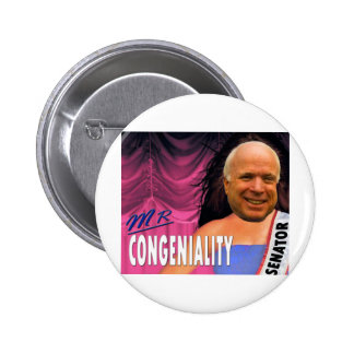 Mr Congeniality Pinback Button