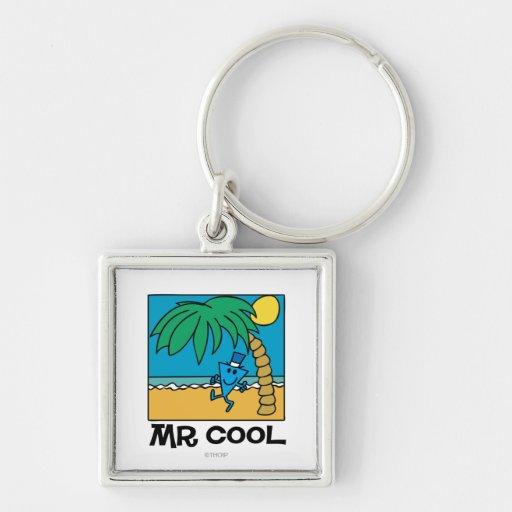 Mr Cool Beach Scene Keychain