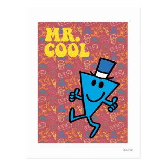 Mr. Cool | Colorful Background Postcard