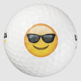 Mr. Cool Emoji Golf Balls