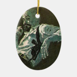Mr Cool Man laid back have a smoke Christmas Tree Ornament