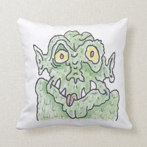 Mr cool monster throw pillow zazzle for Cool couch pillows
