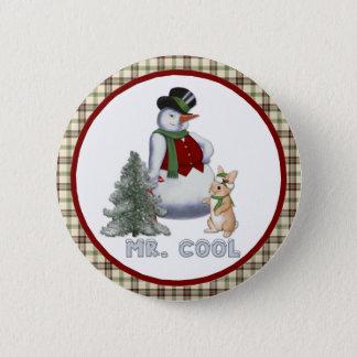 Mr. Cool - Snowman Button