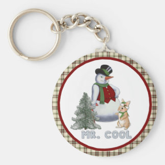 Mr. Cool - Snowman Keychain