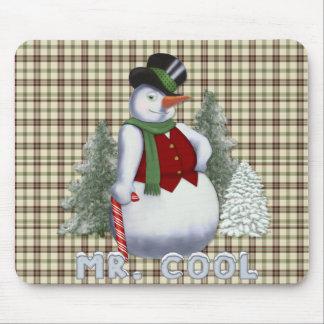 Mr. Cool - Snowman Mouse Pad