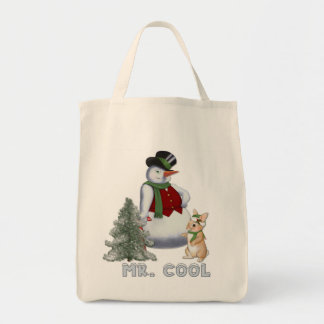 Mr. Cool - Snowman Tote Bag