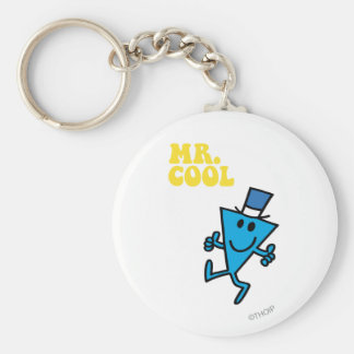 Mr. Cool | Yellow Lettering Keychain