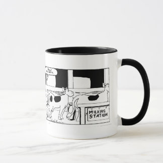 Mr Cow -- I Really Hate Mondays Ringer Mug