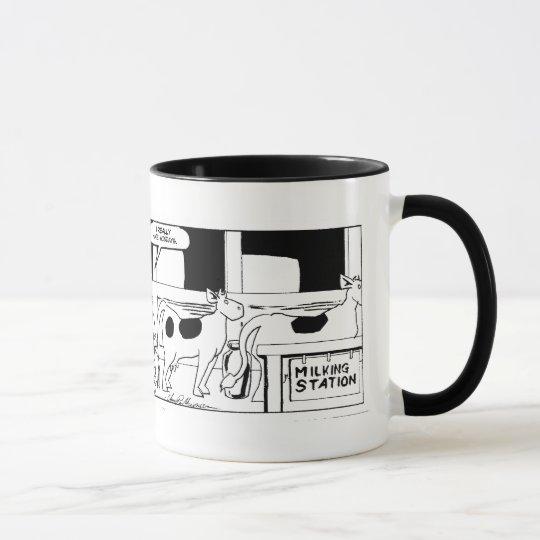 Mr Cow -- I Really Hate Mondays Ringer Mug