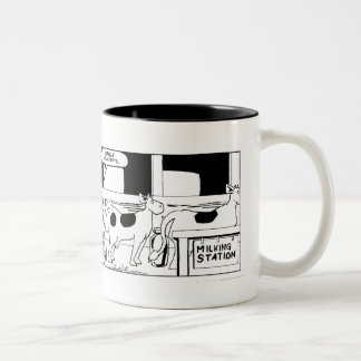 Mr Cow -- I Really Hate Mondays Two-Tone Mug