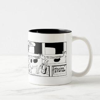 Mr Cow -- I Really Hate Mondays Two-Tone Mug