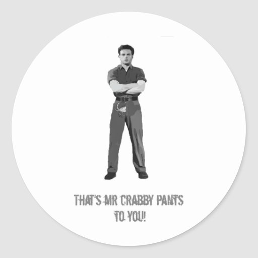 Mr Crabby Pants Classic Round Sticker