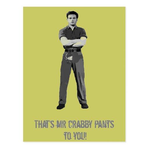 Mr Crabby Pants Postcard