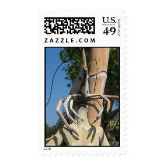 Mr Crustacean AKA Lobster Head ... Buddhist Hell Postage Stamp
