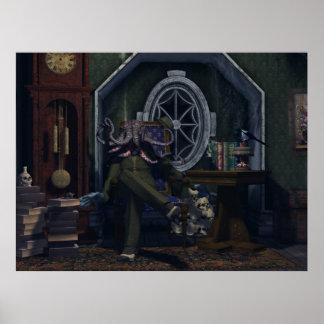 Mr. Cthulhu Just Sitting Around Poster