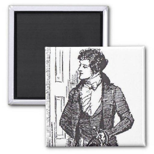 Mr Darcy at the Door Refrigerator Magnet