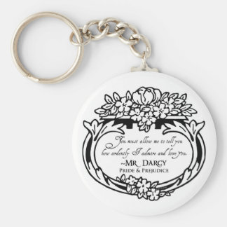 Mr Darcy Loves and Admires Keychain