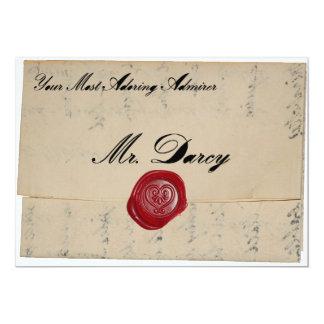 Mr Darcy Regency Love Letter Invitation