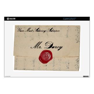 Mr Darcy Regency Love Letter Laptop Skin