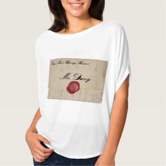 Mr Darcy Regency Love Letter T-shirt