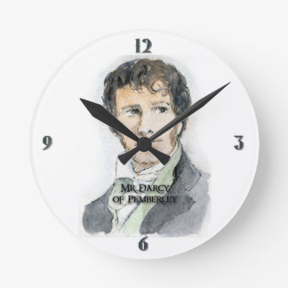 Mr Darcy Time Round Wallclock