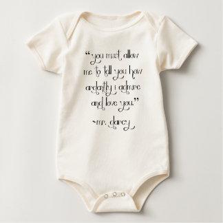 Mr. Darcy's Proposal baby shirt bodysuit