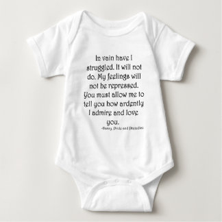 Mr. Darcy's Proposal from Pride and Prejudice Baby Bodysuit